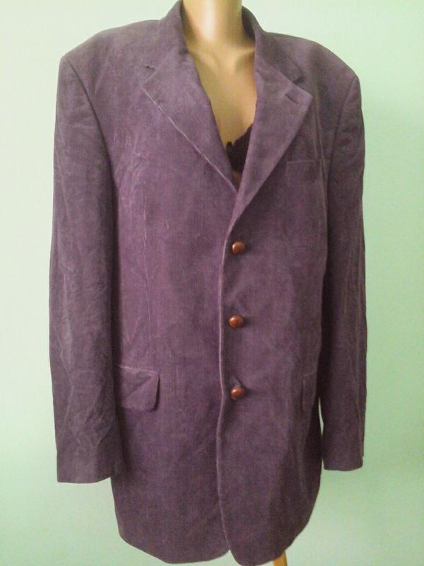 Мужской вельветовый пиджак, см.замеры ~p.L