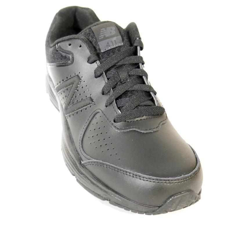 27.0 new balance 411v2 мужские черные кроссовки кожа оригинал