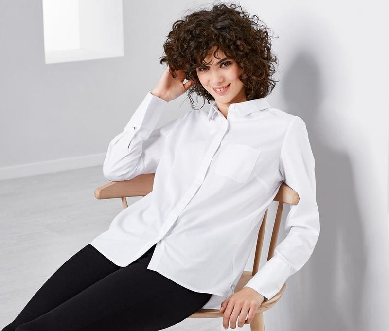 Стильная рубашка, блузка из био хлопка от tcm tchibo германия,...