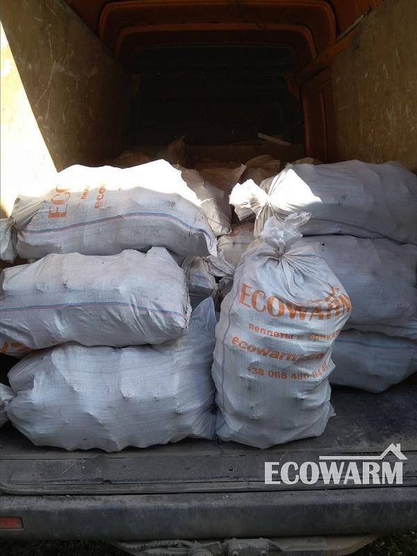 Торфяные брикеты (торфобрикет) в мешках