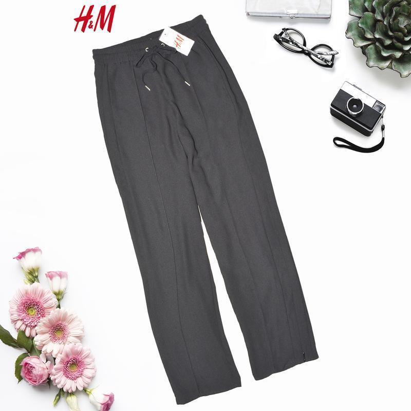 Новые черные штаны с молниями и карманами h&m