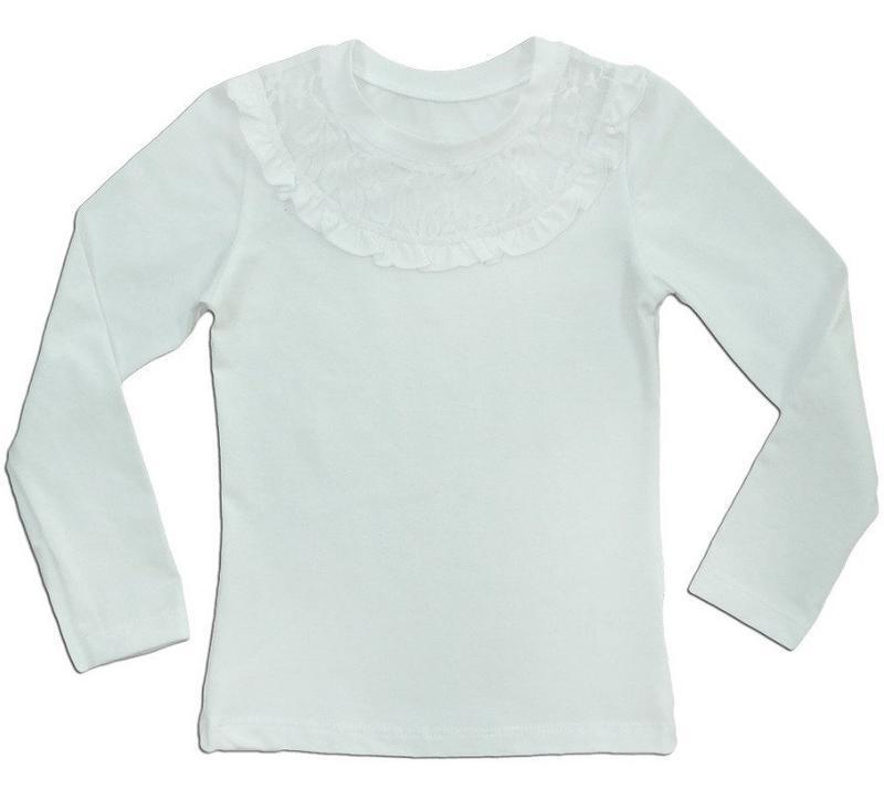 """Блуза для девочки детская """"ажурная кокетка"""""""