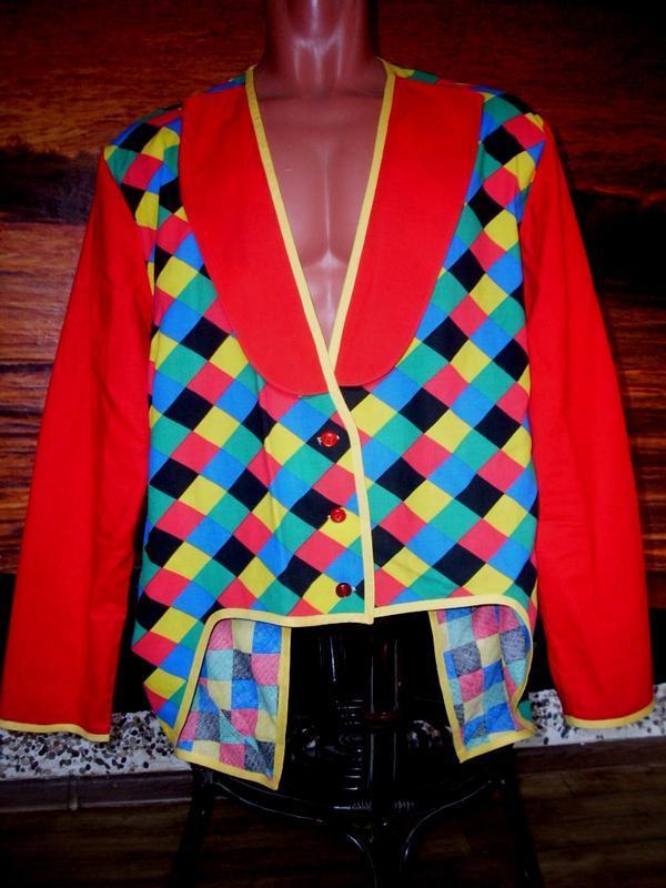 Маскарадный костюм фрак для клоуна клоунессы 50 (54) размера