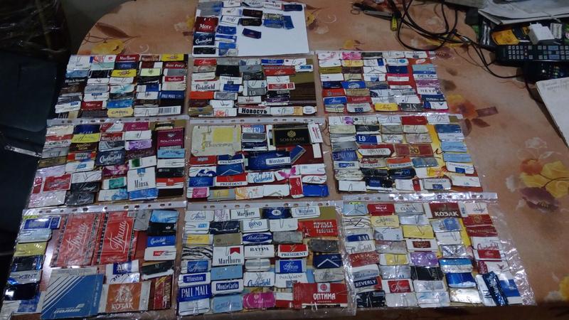Лот Коллекциия крышек от сигаретных пачек 314шт.