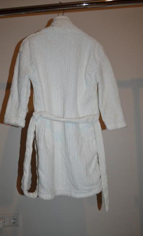 Пушистый махровый халат длина 72 см