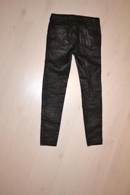 Узкие джинсы, штаны m&s с пропиткой под кожу рост 164 см на 13...