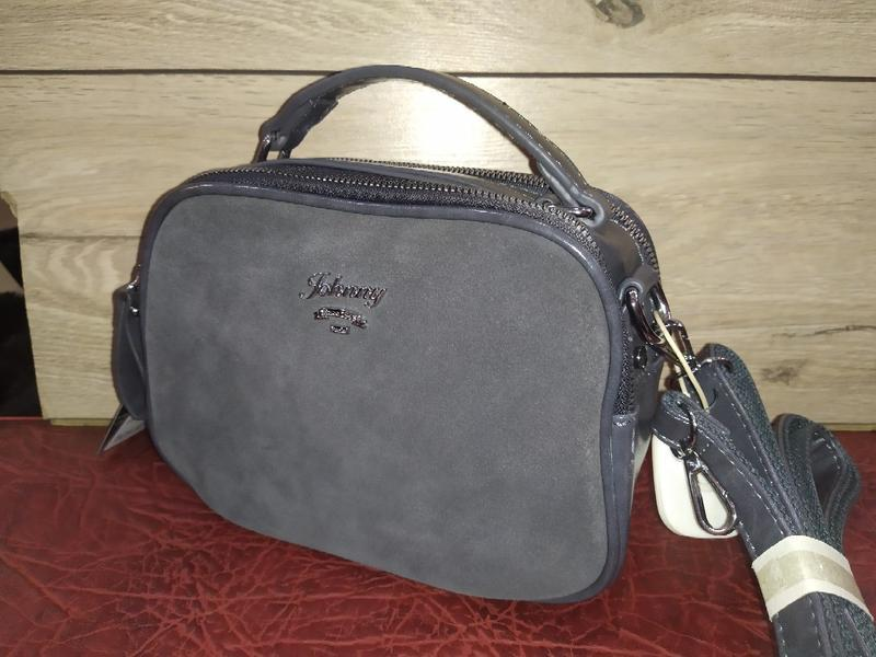 Акция натуральная замша сумка johnny клатч женская через плечо