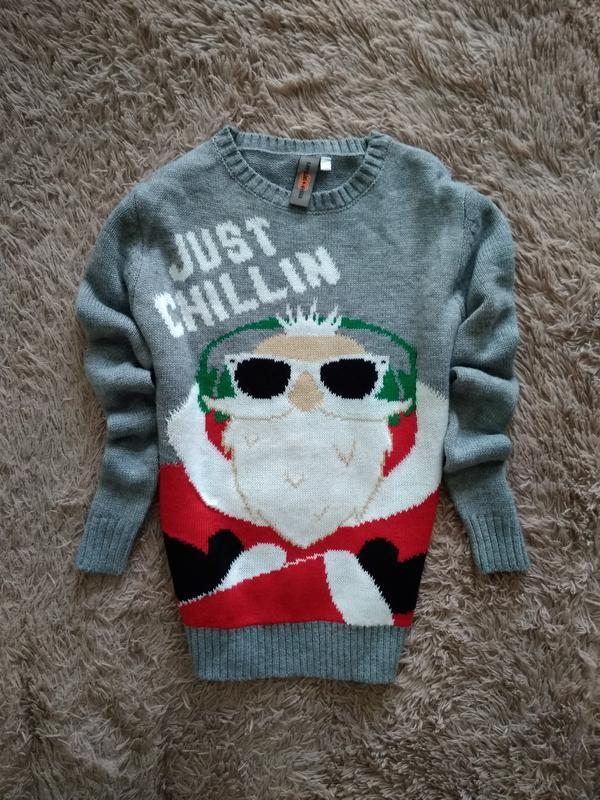 Яркий,красивий новогодний свитер,9-10лет