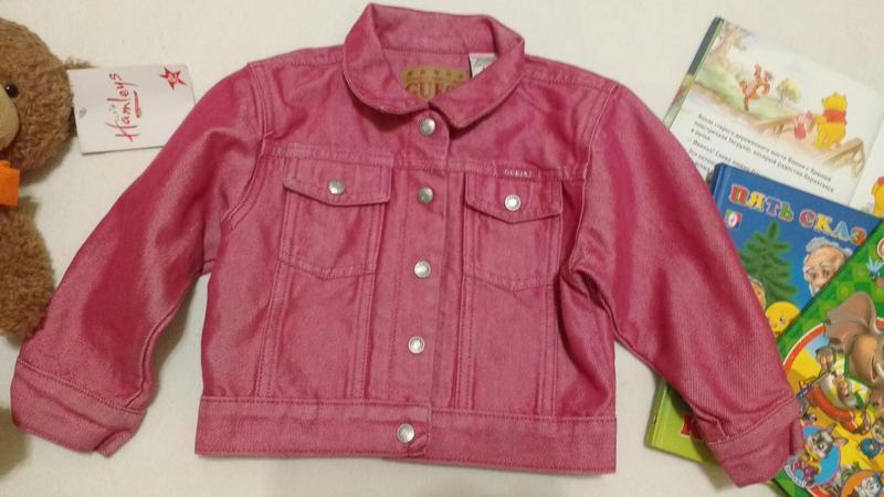 """Розовая стильная джинсовая куртка """"guess"""", 2 года"""