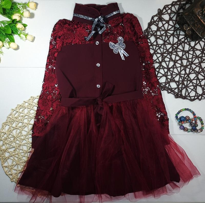 Платье +фатиновая повязка на пояс