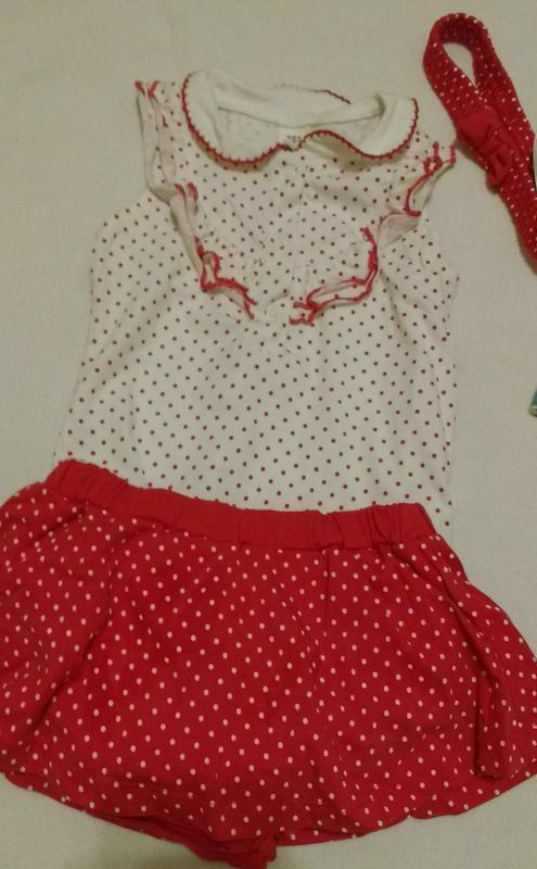 "Комплект из боди, юбки с трусиками и повязки ""lc waikiki"", 6-9..."