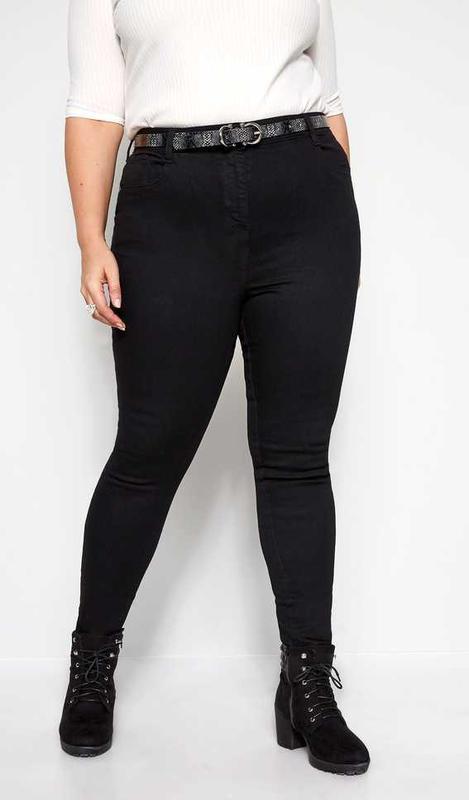 Шикарные стрейчевые плотные чёрные джинсы скинни autograph m&s
