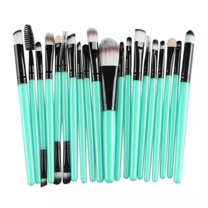 Кисти для макияжа набор 20 шт blue/black