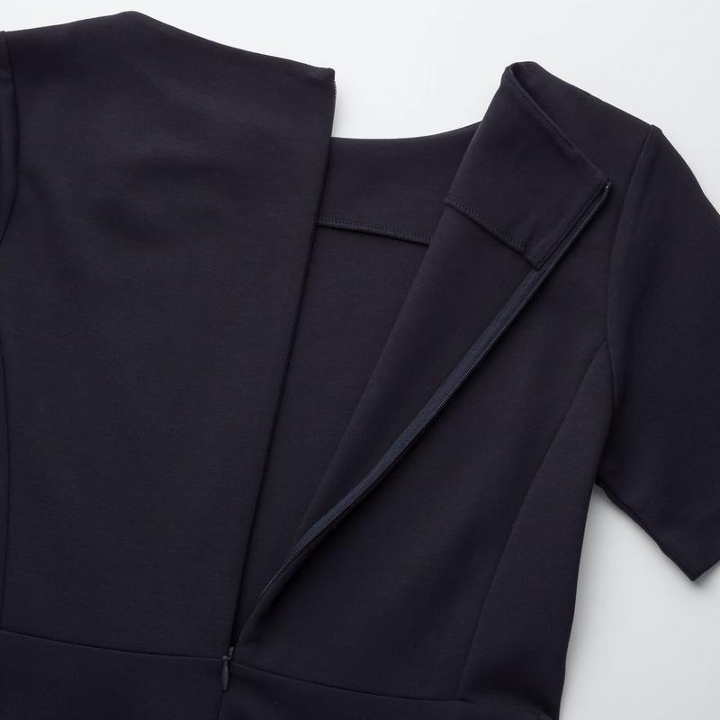 Платье темное индиго ponte от uniqlo m, l - Фото 2