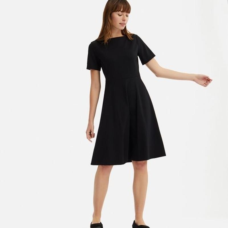 Платье темное индиго ponte от uniqlo m, l - Фото 5