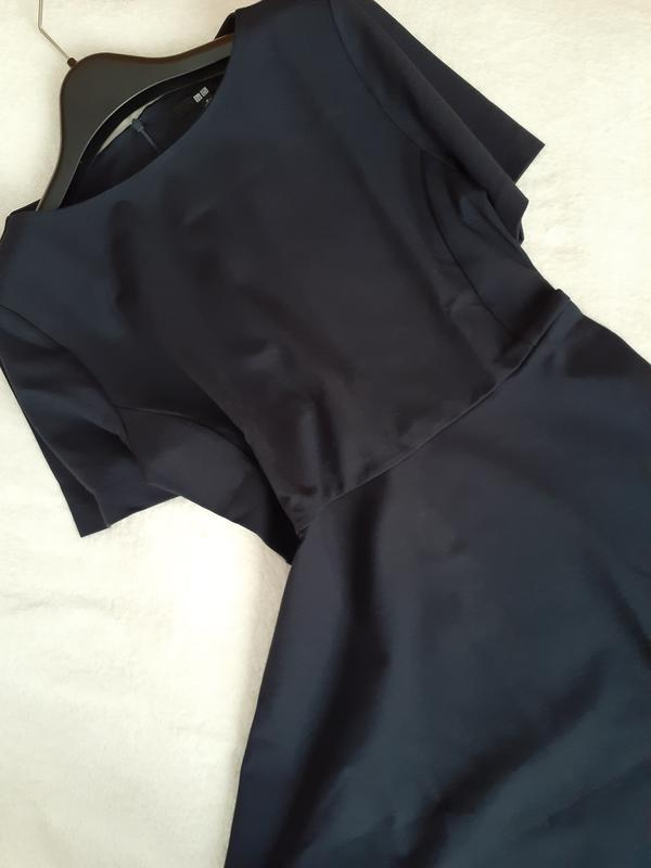 Платье темное индиго ponte от uniqlo m, l - Фото 6