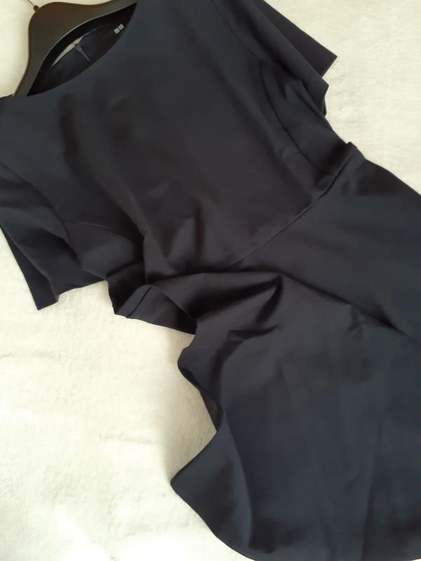 Платье темное индиго ponte от uniqlo m, l - Фото 7