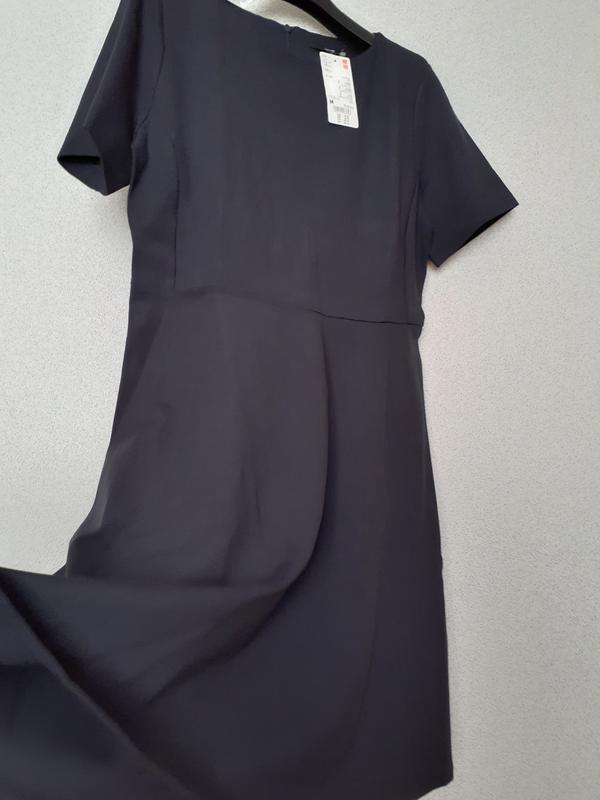 Платье темное индиго ponte от uniqlo m, l - Фото 8