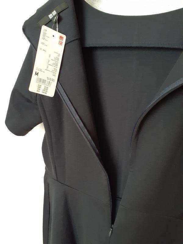 Платье темное индиго ponte от uniqlo m, l - Фото 9