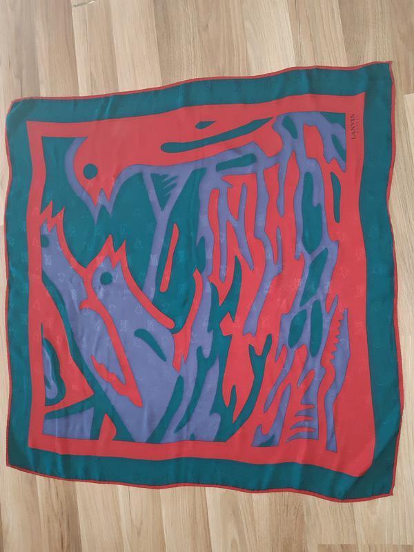 Шелковый винтажный платок lanvin италия оригинал