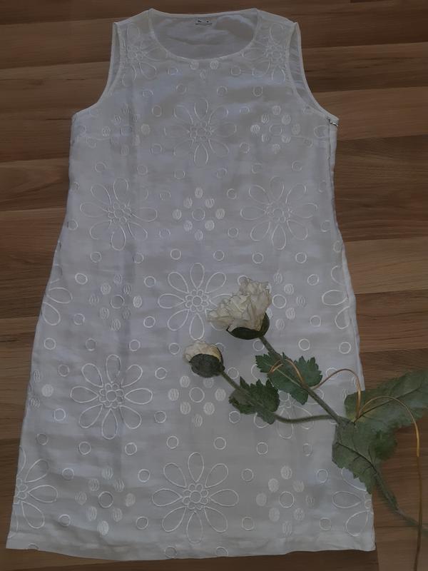 Льняное платье - Фото 3