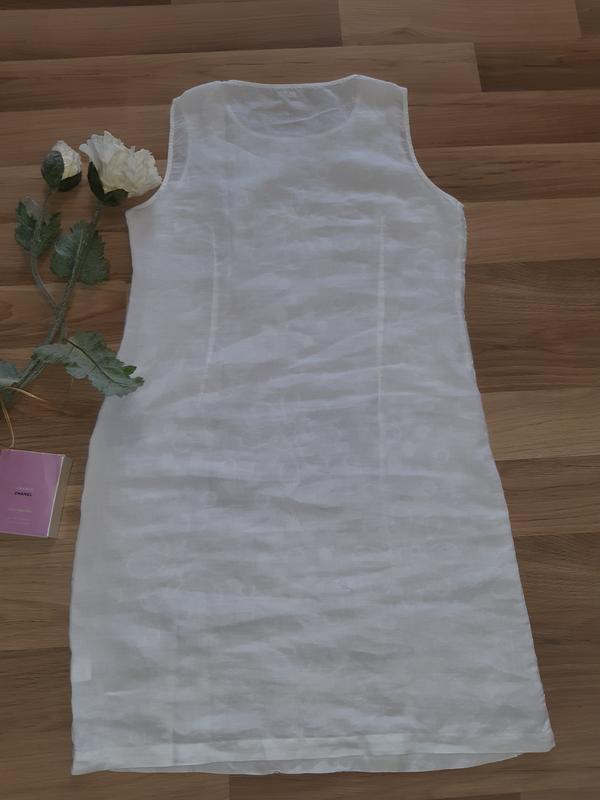 Льняное платье - Фото 6