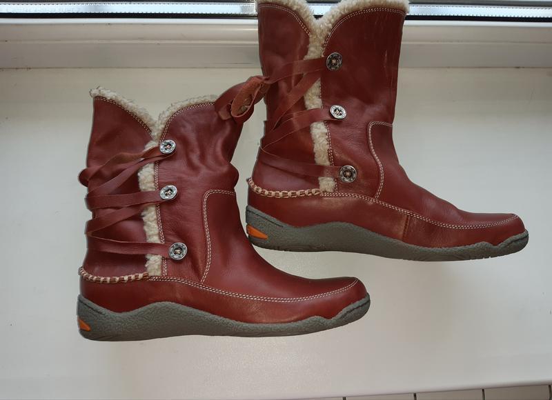 Ботинки чоботы деми натуральная кожа teemix
