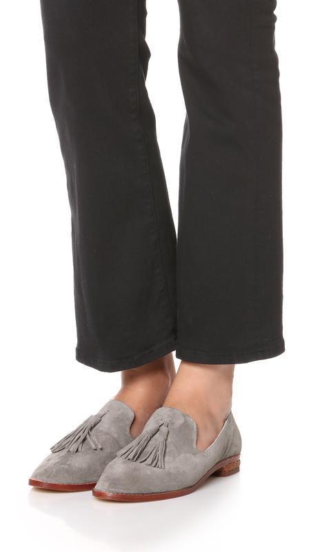 Натуральные замшевые брендовые стильные лоферы туфли большого ...