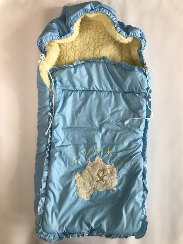 Зимний конверт на овчине 0-12 мес