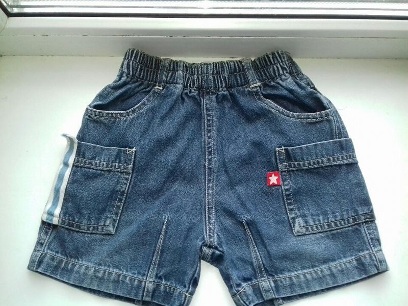 Джинсовые шорты на резинке  на мальчика