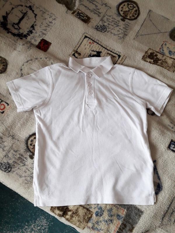 Белая футболка поло george, р. 110-116