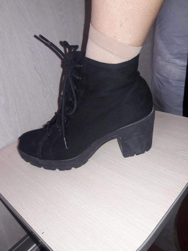 Тканевые ботинки. - Фото 4