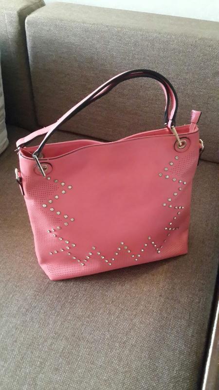 Коралловая женская сумка шоппер