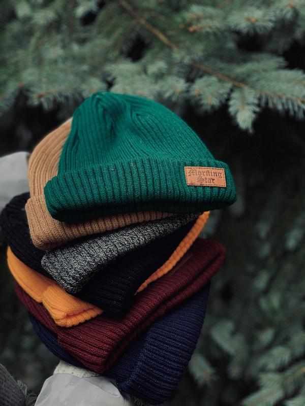 Вязаная мужская шапка MS Classy