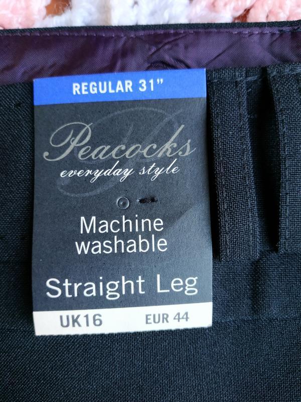 Новые фирменные классические брюки peacocks - Фото 5
