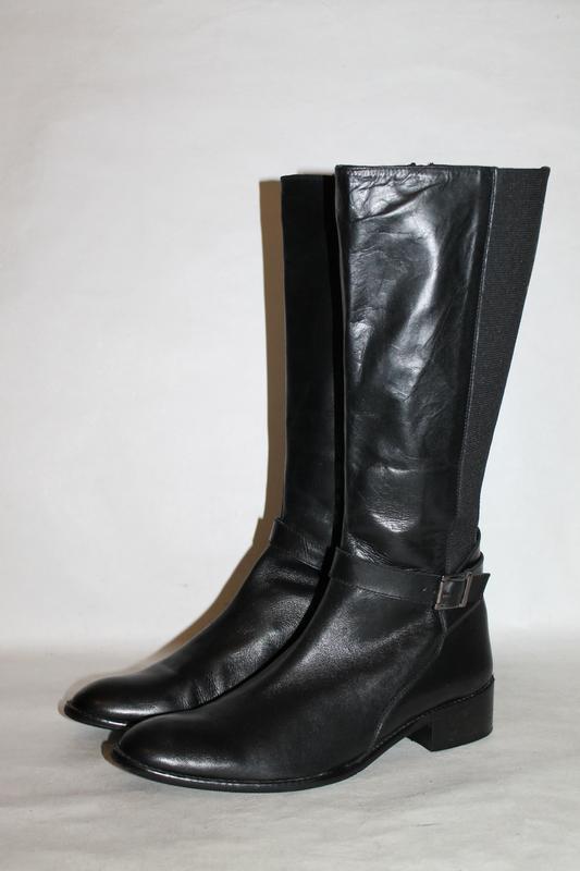 Базовые кожаные сапоги 40 размер 100% натуральная кожа