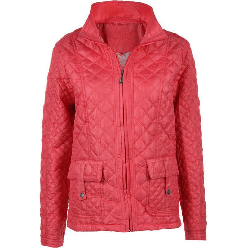 Модная куртка большого размера из легкого стеганого материала ...