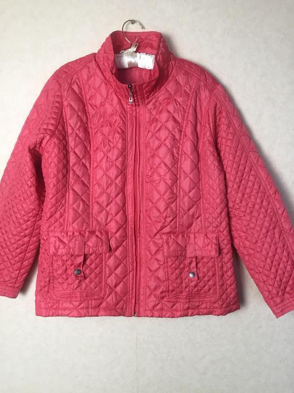 Модная куртка большого размера из легкого стеганого материала ... - Фото 4