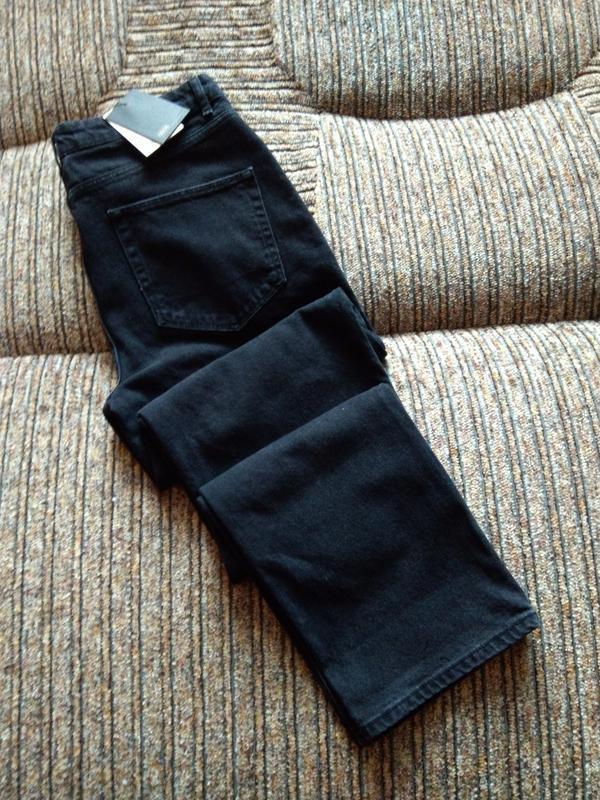 Плотные джинсы asos original fit washed bkack