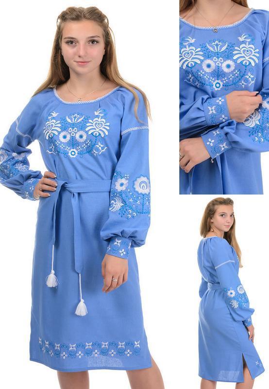 Нарядное,женственное платье-вышиванка,рубаха с вышивкой свобод...