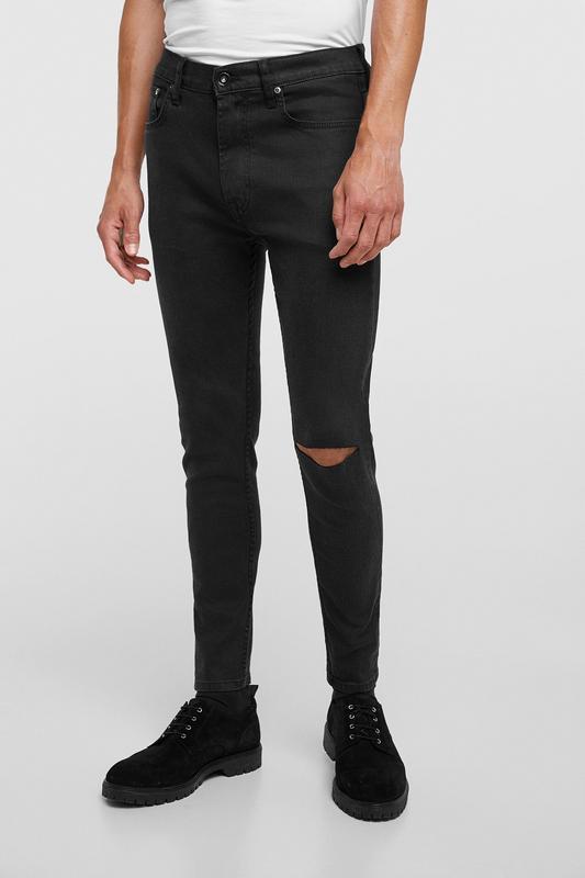 Черные джинсы скинни zara