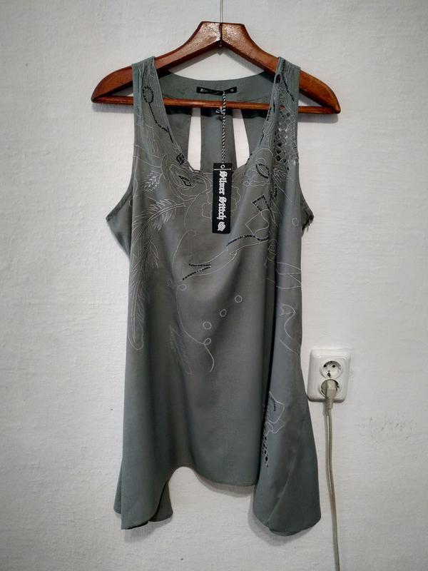 Стильная натуральная блуза большого размера