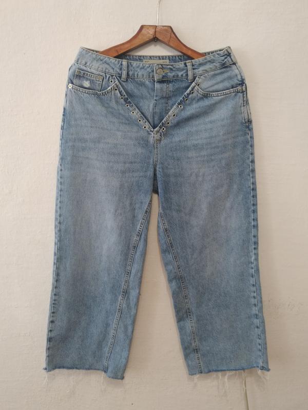 Стильные винтажные джинсы кюлоты большого размера w32