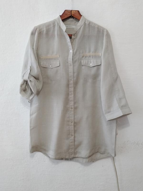 Стильная легкая рубашка zara большого размера