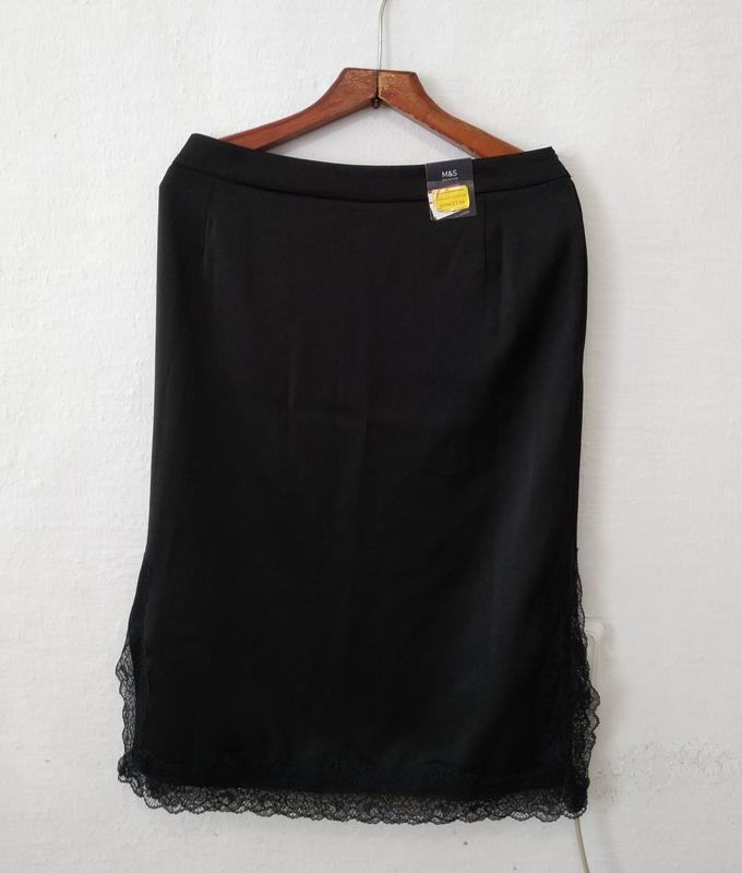 Стильная нарядная юбка с кружевом