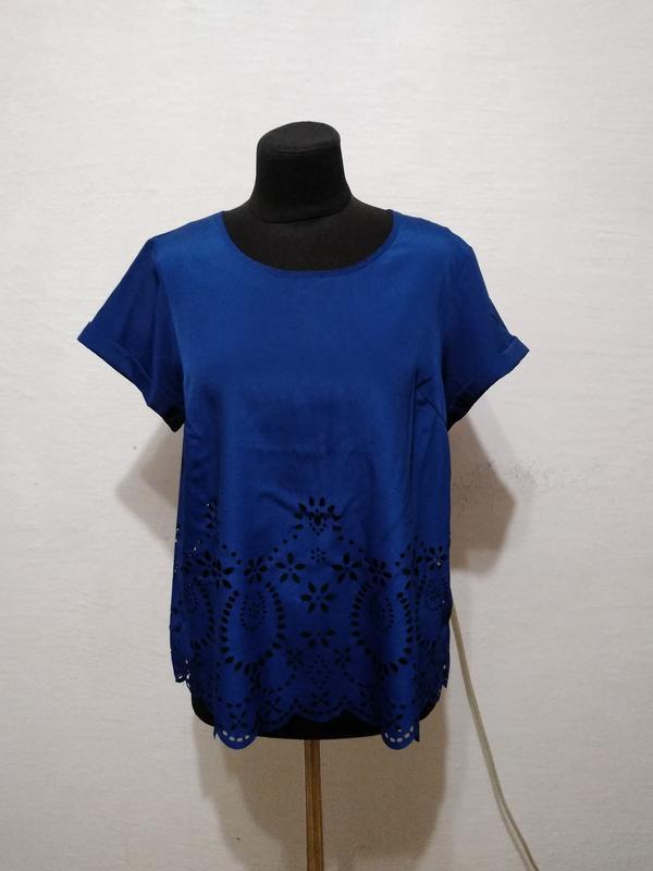 Стильная блуза цвета электрик большого размера