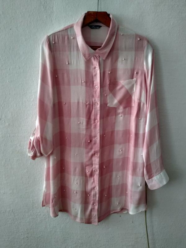 """Стильная рубашка """" бусинка """" большого размера"""