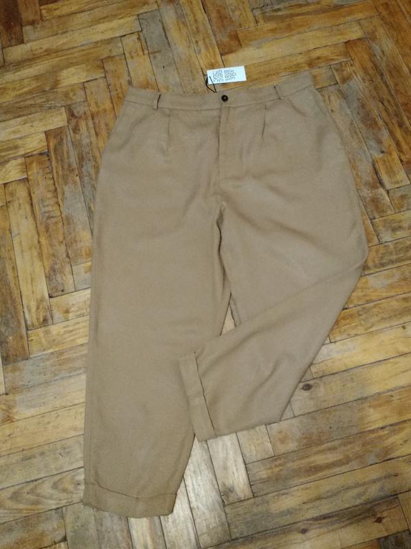 """Стильные модные трендовые брюки цвета  мокко """" большого размера"""