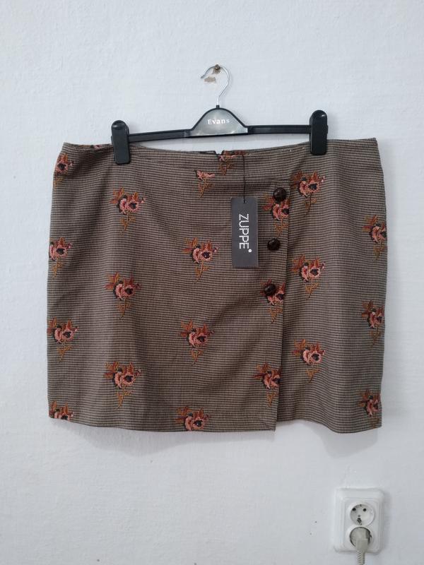 Стильная юбка с вишивкой большого размера