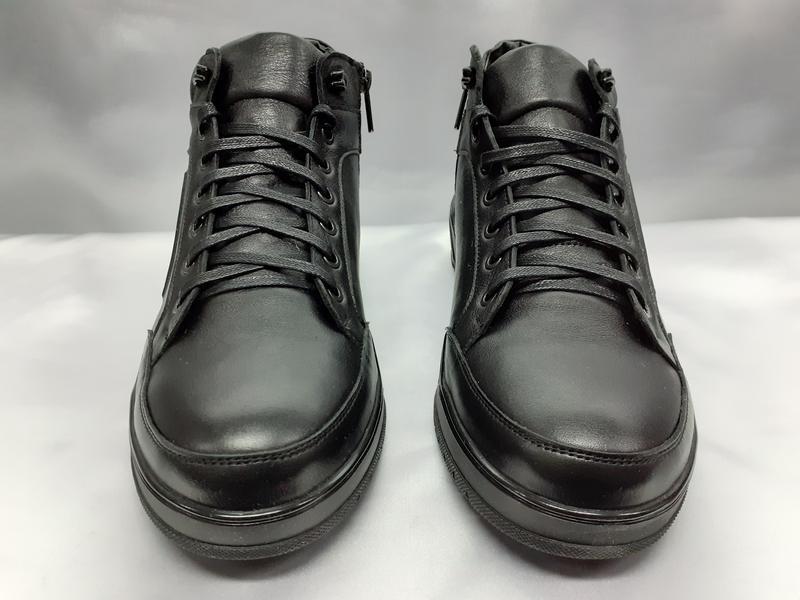 Распродаж!зимние кожаные ботинки под кроссовки на молнии madoks - Фото 3